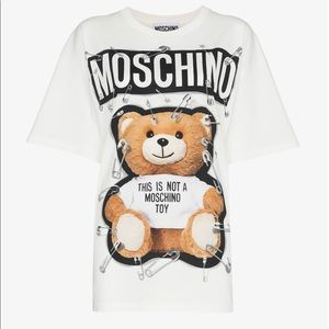 Moschino Safety Pin Oversized Bear Tee size S
